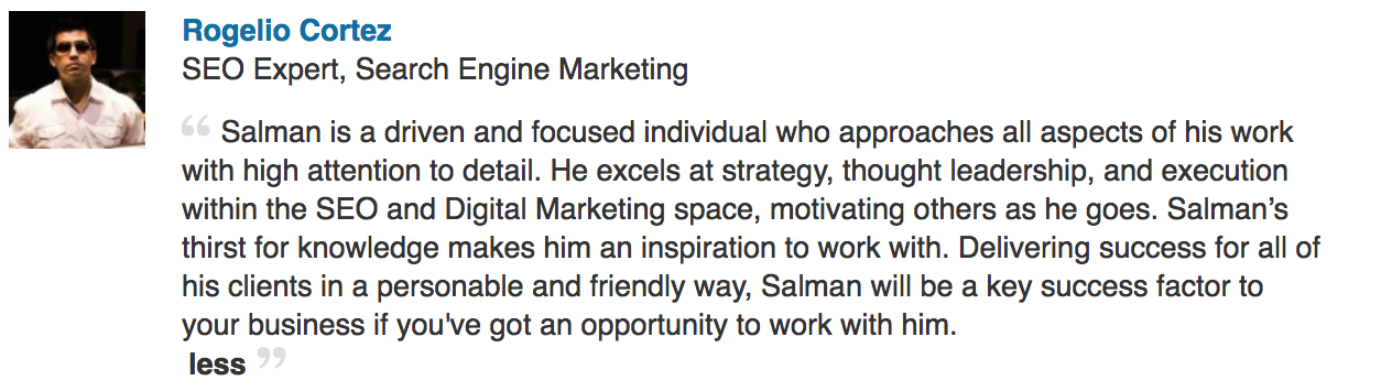Virginia SEO Strategist Salman Abideen