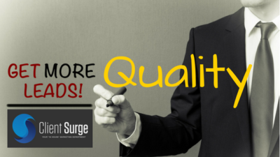 Quality Lead Generation by Client Surge SEO